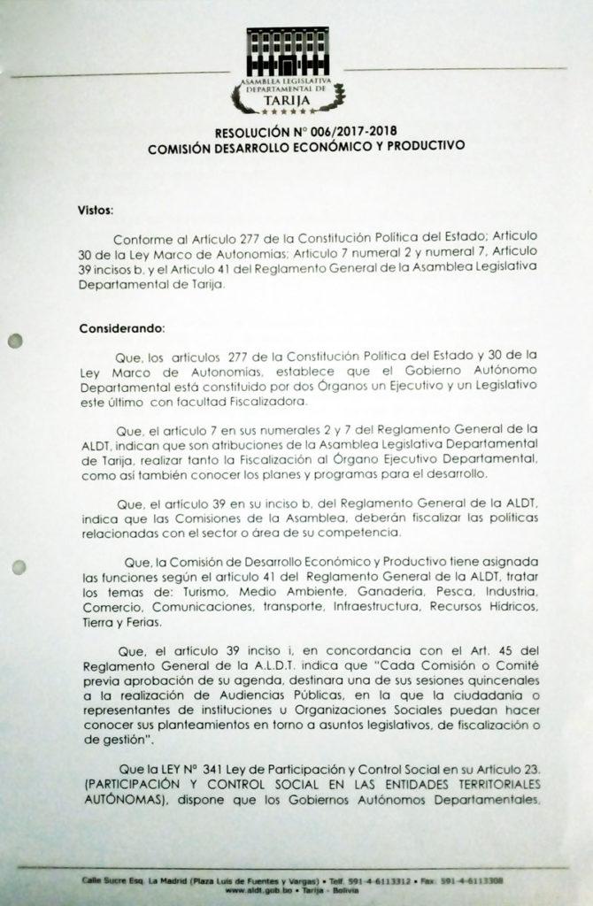 resolucion-006-2017-2018 – Asamblea Legislativa Departamental de Tarija