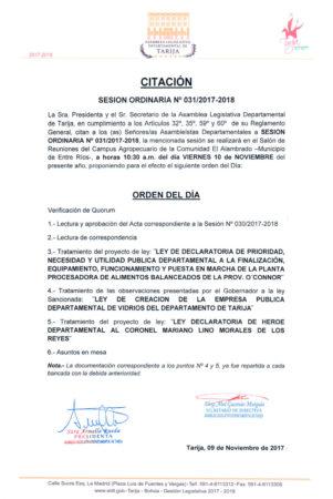 Sesión Ordinaria N° 31/2017-2018 @ Comunidad el Alambrado - Municipio de Entre Rios